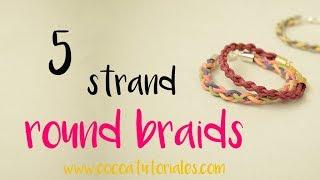 DIY How to make a 5 strand round plait /braid