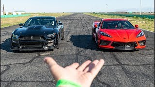 2020 GT500 VS C8 CORVETTE - ON TRACK COMPARISON (Lap Breakdown)