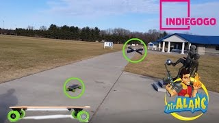 Acton Blink S Electric Skateboard Races Against Parrot Drone IndieGogo Backer $85 Promo Code