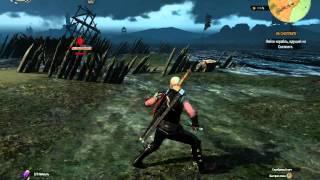 The Witcher 3 хайлвл василис + вода (Легкий способ убить василиска рядом с водой)