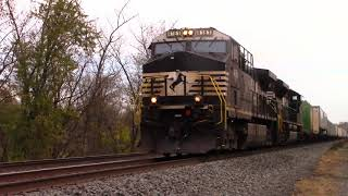 NS 21J Westbound Trailer Train from Rutherford PA to 47th Street Yard Chicago IL at Thompsontown PA