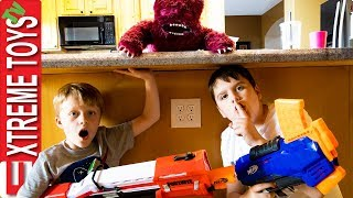 Weird Creature Falls from the Sky! Ethan and Cole Nerf Battle Alien!