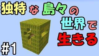【マインクラフト】#1 独特な島々の世界で生きる ~スイカは爆発するもの~【配布ワールド】 thumbnail