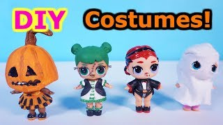 LOL SURPRISE DOLLS Halloween Costumes Easy DIY!