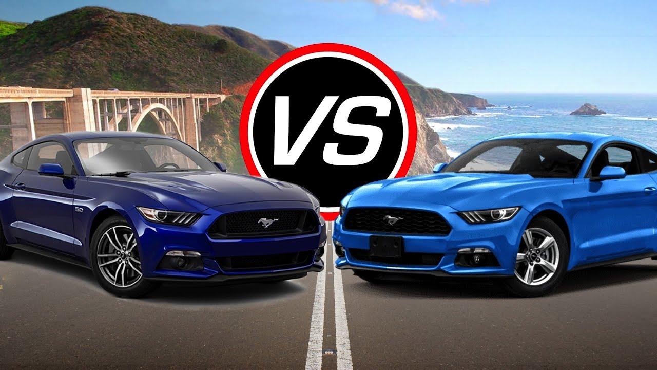 2016 Ford Mustang Gt Vs Ecoboost I4 Spec Comparison