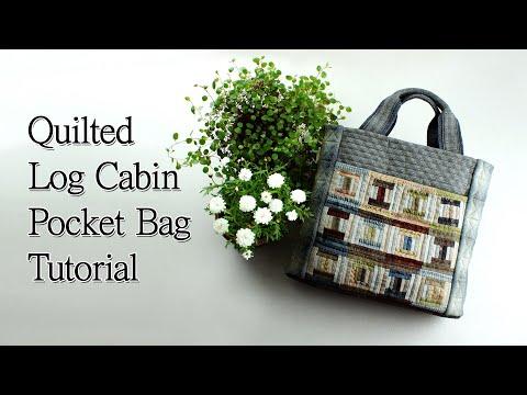 [퀼트 가방]Quilted Log Cabin Pocket Bag Tutorial I Yoko Saito להורדה