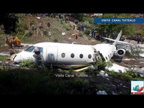 Avión privado de EU se estrella en aeropuerto de Tegucigalpa Honduras Video heridos 2018