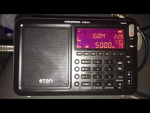 WWV time signal 5 MHz, Fort Collins, Colorado, copied in Rio Capim, Northern Brazil