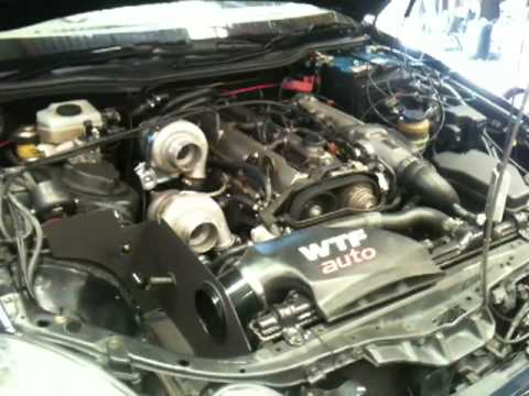 WTFauto twin GT2860RS 2JZ turbo kit dyno run