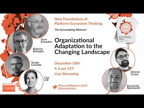 Online Webinar: Organisational Adaptation to the Changing Landscape
