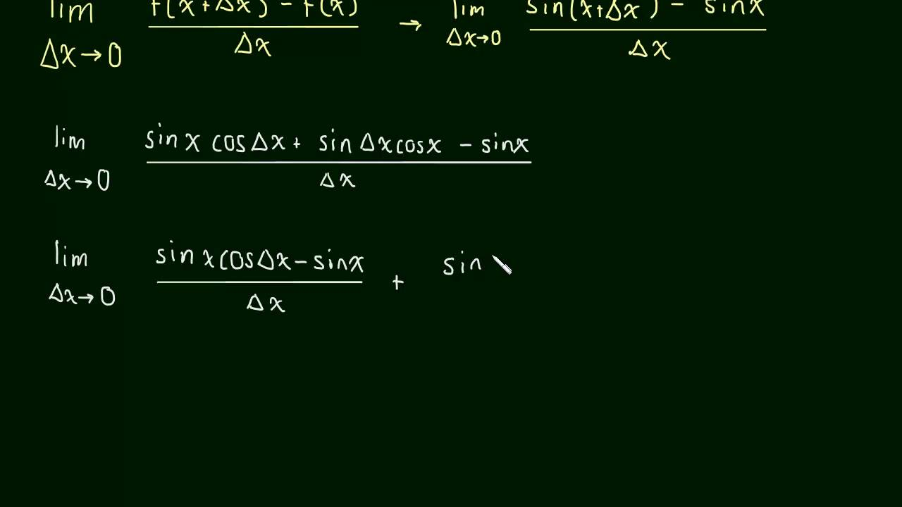 What is the antiderivative of sinx?