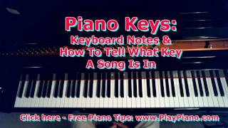 """What Does It Mean """"To Play In The Key Of...""""? Piano Keys!"""