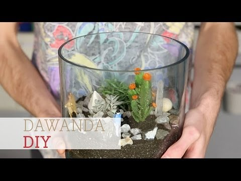 How To Make A Cactus Terrarium Youtube