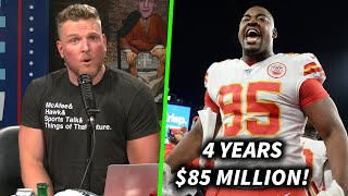 Pat McAfee Reacts To Chris Jones HUGE Extension With The Chiefs