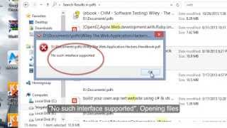 """""""No such interface supported"""" choose default program to open PDF files with windows 8 App Reader"""