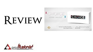 Choice by Jerome Sauloup - Review - DEUTSCH