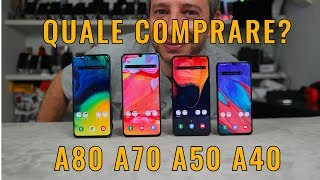Galaxy A40 versus A50 A70 and A80 review