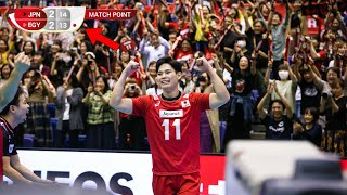 One of the Greatest Moments For Japan Volleyball Team (HD)