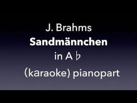 Sandmännchen   J. Brahms  in A♭ karaoke