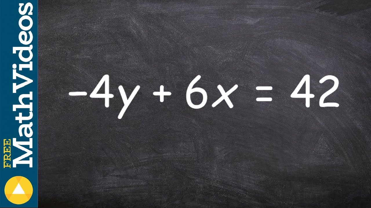 Algebra 2 Putting An Linear Equation In Standard Form Cool Math