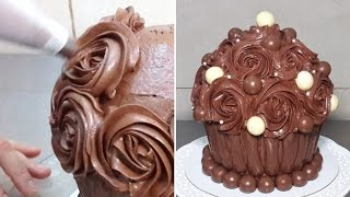 Giant Chocolate Cupcake. Birthday Cake Ideas By Cakesstepbystep