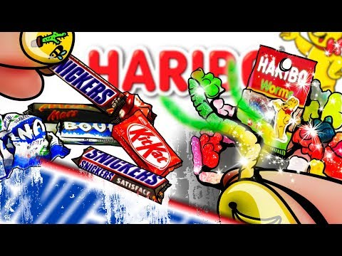 Miniature Candy Bars and Gummy Worms Tutorial | DollHouse DIY ♥