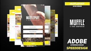 MufflePuff UI Speed Design | Adobe XD