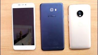 Gionee A1 Vs Samsung C7 Pro Vs Moto G5 Plus SpeedTest Comparison I Hindi