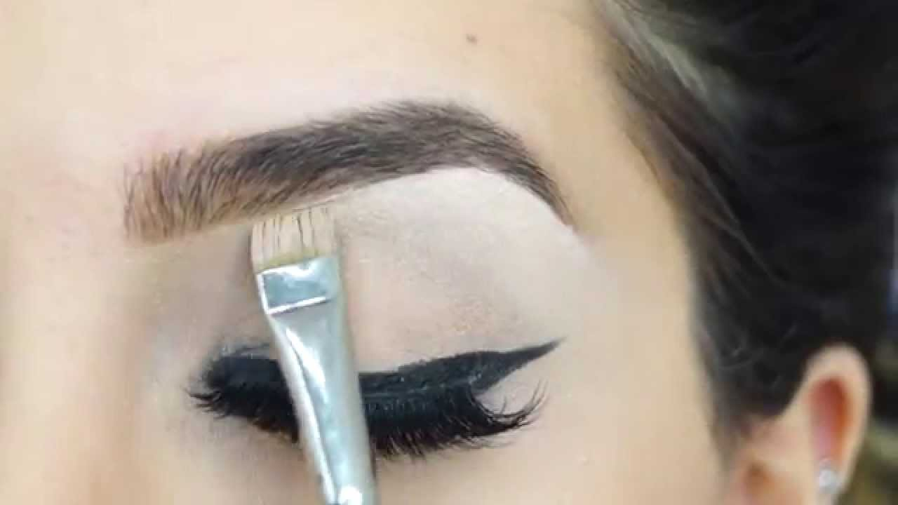 How To Do Natural Thick Eyebrows Without Over Filling Youtube