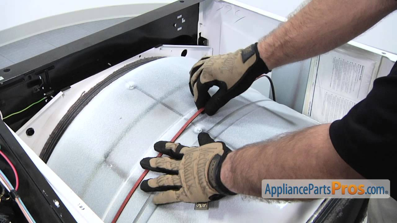 Duet Dryer Drum Belt (part #661570V) - How To Replace - YouTube