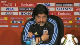 Hilarious Maradona interview with English reporters!