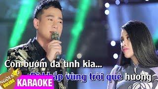 Người Tình Và Quê Hương - KARAOKE | Hồng Quyên ft Đoàn Minh