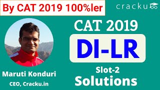CAT 2019 Slot-2 DILR Solutions By 100%ler | Excellent Explanation