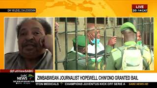 Analysis: Zim journalist Chin'ono and politician Ngarivhume released on bail