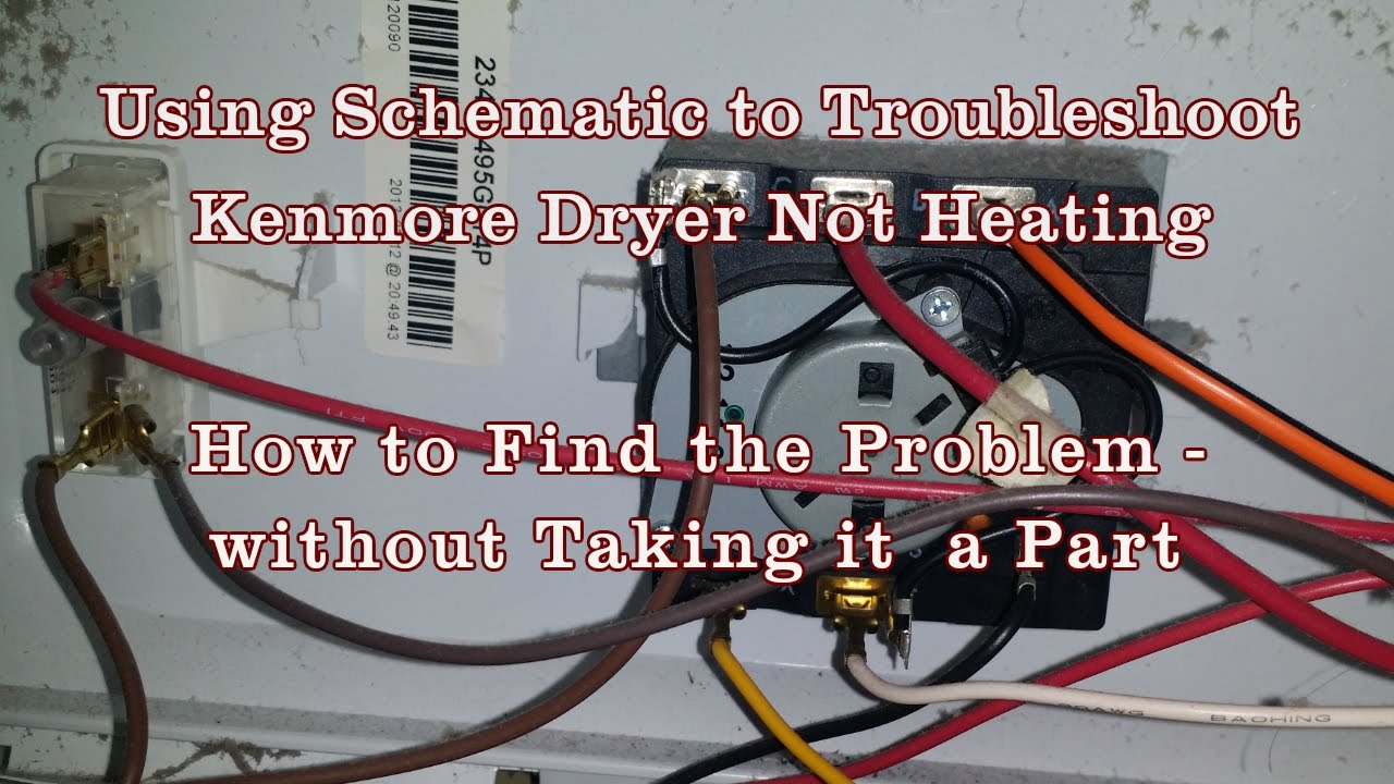Appliance Repair - How to Read Schematics Diagram Kenmore ... dryer parts names YouTube