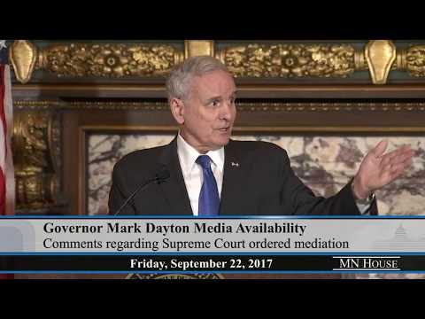(Full version) Governor Mark Dayton Media Availability  9/22/17