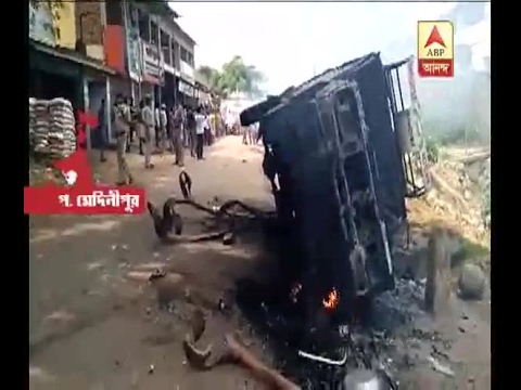 1 killed in an accident at Ghatal, chaos in the area