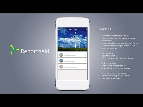 Wind farm maintenance software - Reportheld demo