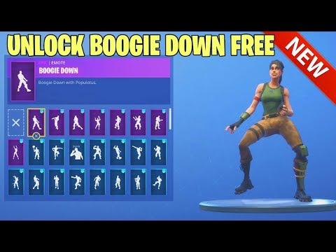 HOW TO GET BOOGIE DOWN DANCE EMOTE NOW FREE! FORTNITE BATTLE ROYALE