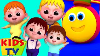 Lima bayi kecil | Bob kereta api | Bayi sajak | Kids Tv Indonesia | Kartun untuk anak
