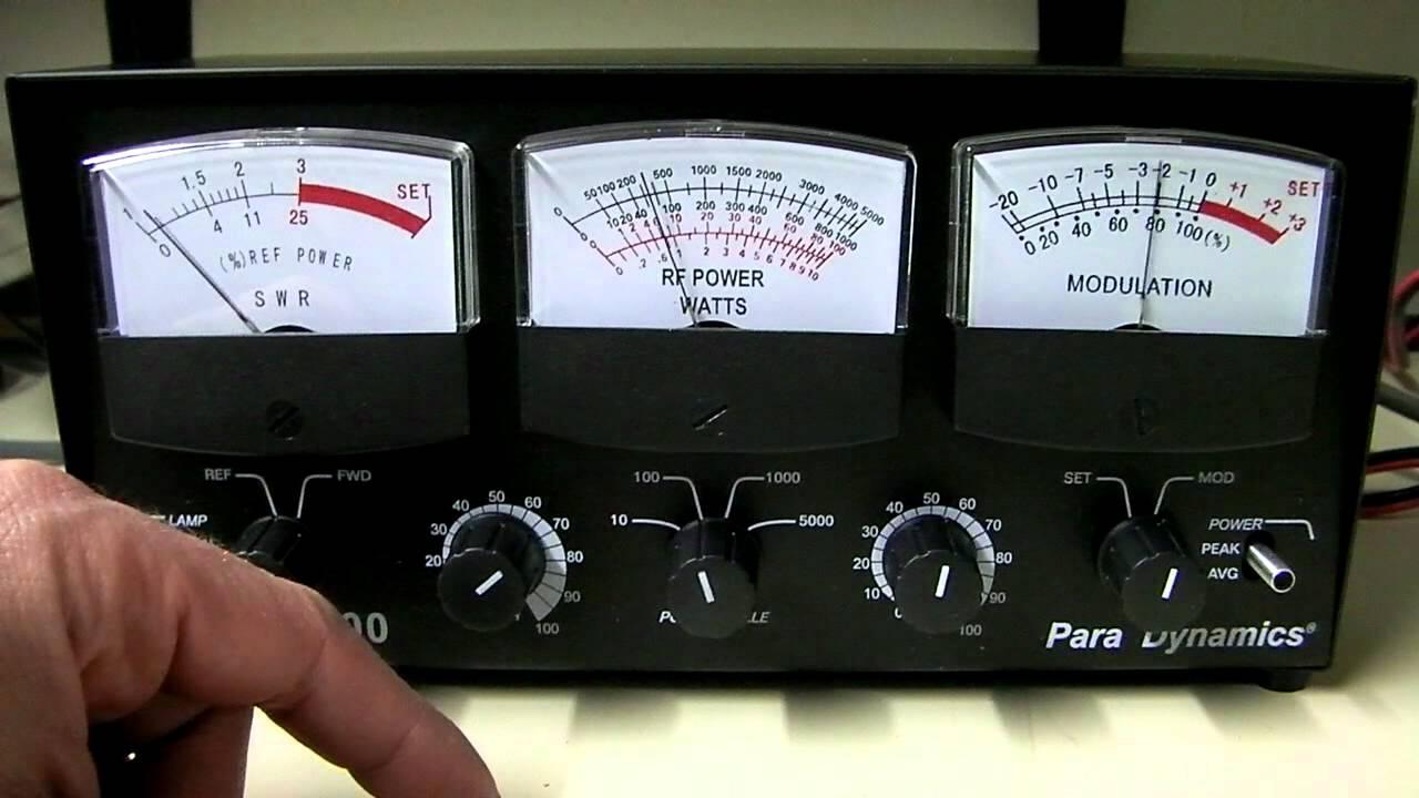 Astatic 600 Para Dynamics 3 Window Swr Wattage Modulation Cb Meter