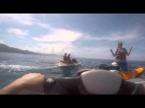 Jet ski tour in Labadee Haiti 2015