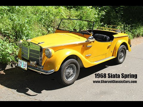 1968 Siata Spring Roadster Charvet Classic Cars