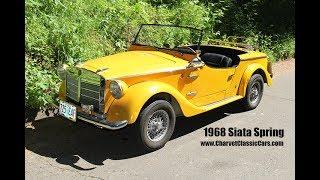 1968 Siata Spring Roadster Charvet Classic Cars