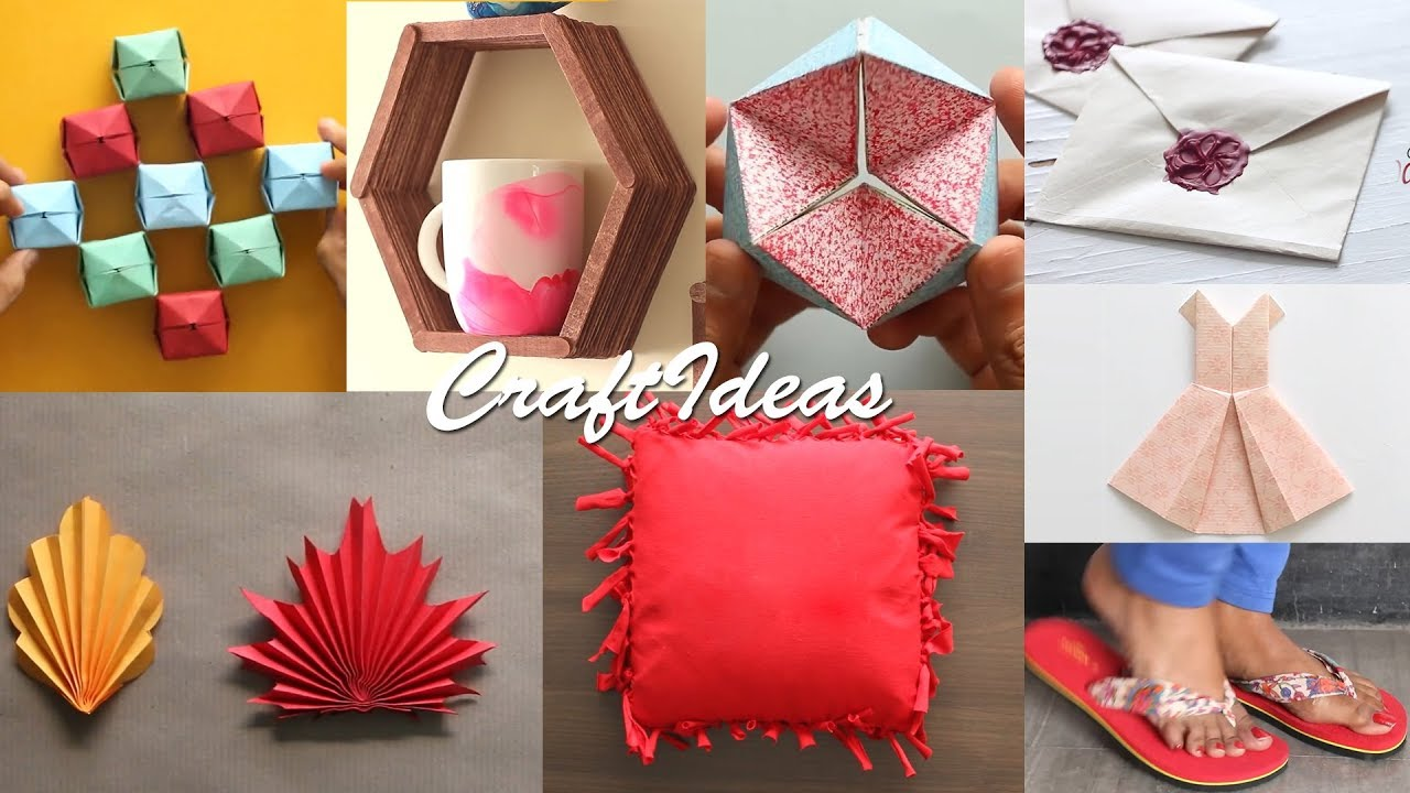 8 Easy Craft Ideas Diy Activities Useful Things Youtube