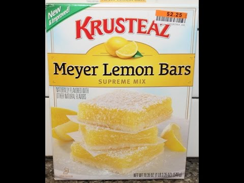 Making Krusteaz Meyer Lemon Bars & Review