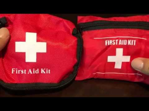 Emergency portable first aid kit pouch bag for survival, travel, home, and sports