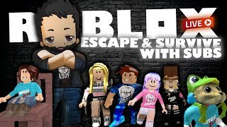 ROBLOX Live Stream | Escaping and Surviving with subs and viewers