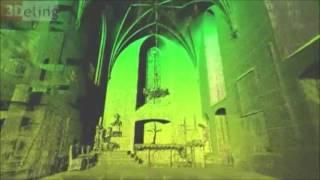 Zobacz jak po Zamku Gniew wędrują duchy - film 3D