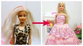 Biến Hóa búp bê XẤU thành Đẹp - Búp bê Barbie / Ami DIY